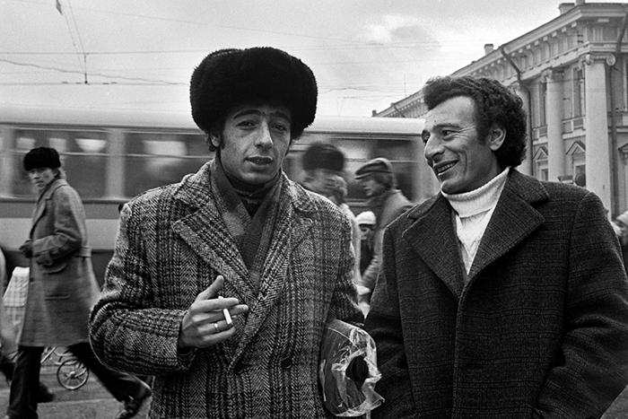 Уличный портрет в Ленинграде. 1976 год.