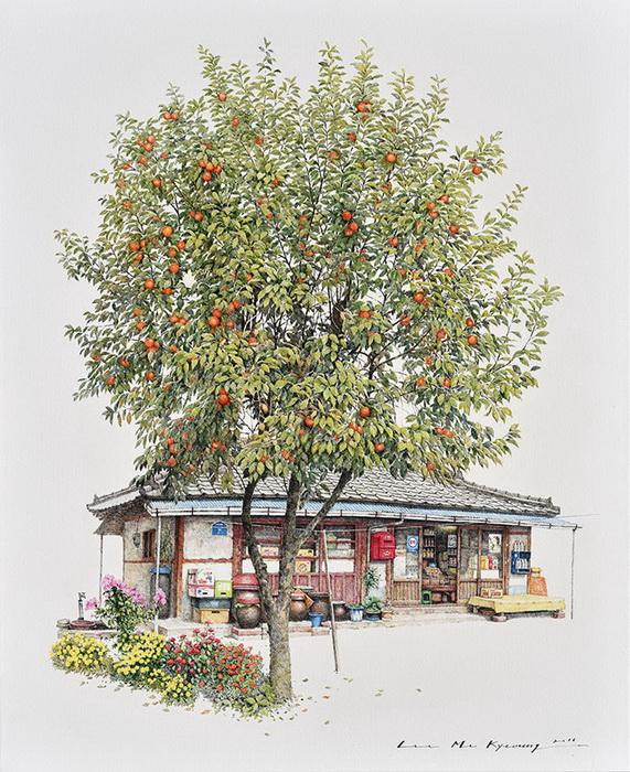 Me Kyeoung Lee посвятила 20 лет своей жизни рисованию магазинчиков.
