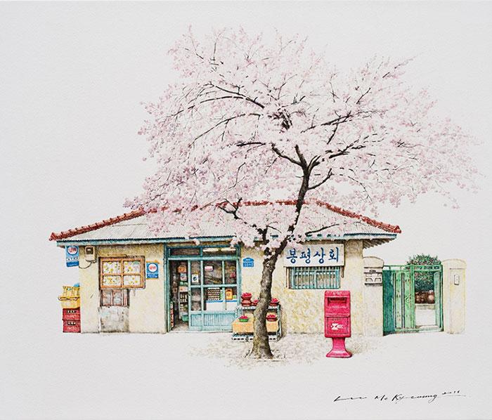 Минималистские скетчи от корейской художницы Me Kyeoung Lee.