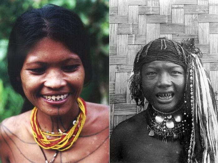 Жуткие улыбки женщин племени ментаваи
