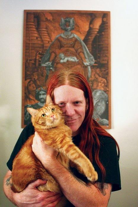 Metal Cats: фотопроект о рок-музыкантах и их котах