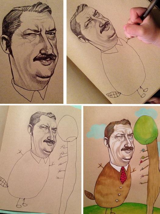 Арт-дуэт: иллюстратор Мика Анджела Хендрикс и ее 4-летняя дочь рисуют вместе