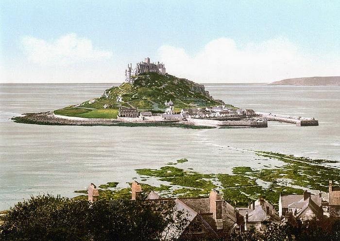 Неприступный монастырь на острове Сэнт Майклз Маунт