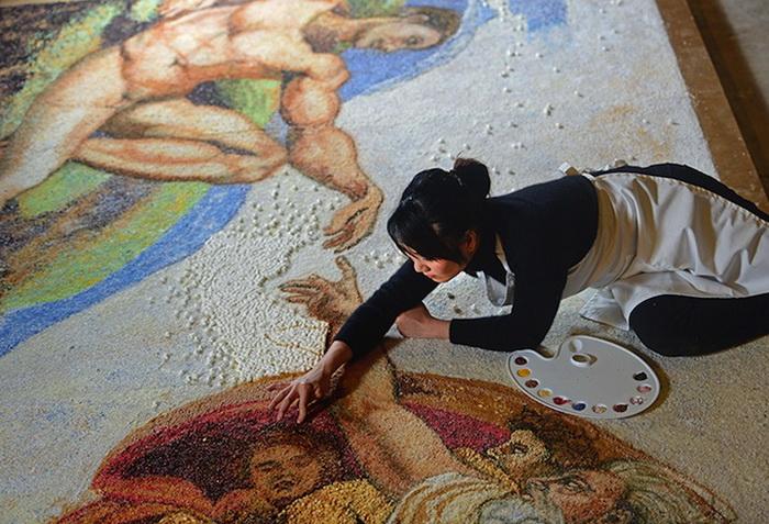 Мишель Уибоу работала над картиной 168 часов