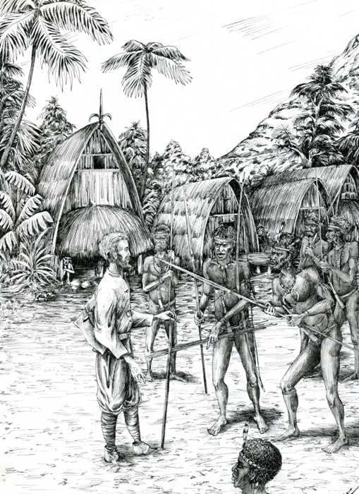 Миклухо-Маклай с аборигенами