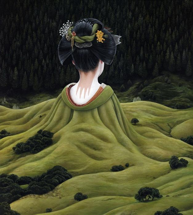 Moki Mioke черпает творческое вдохновение из работ японского художника Hayao Miyazaki
