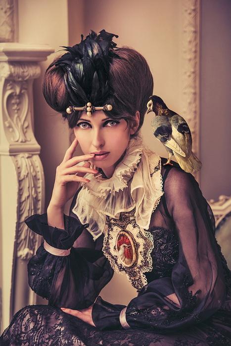 Портрет с голубем и дичью. Фэшн-фотографии от Натальи Дубиц (Natalie Dybisz)