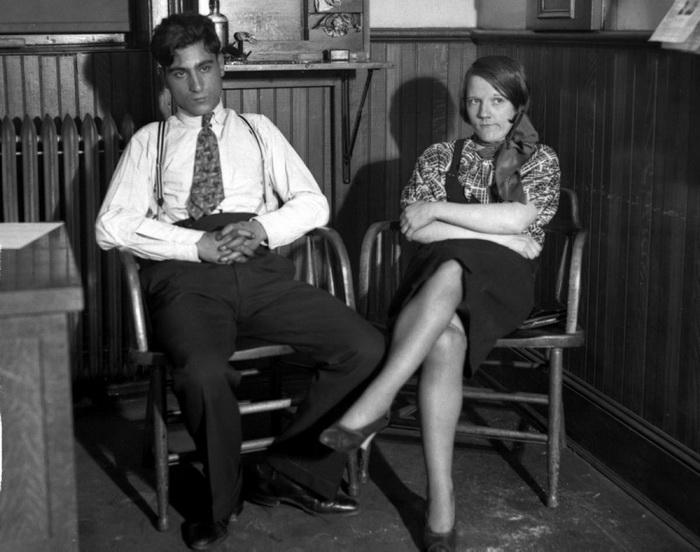 Арестованные любовники-убийцы - Маргарет Келли и Френк Палумбо, 1932 год