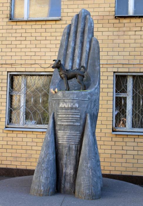 Памятник собаке-космонавту Лайке в Москве.
