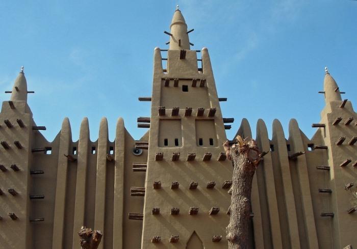Большая мечеть Мопти, Мали.