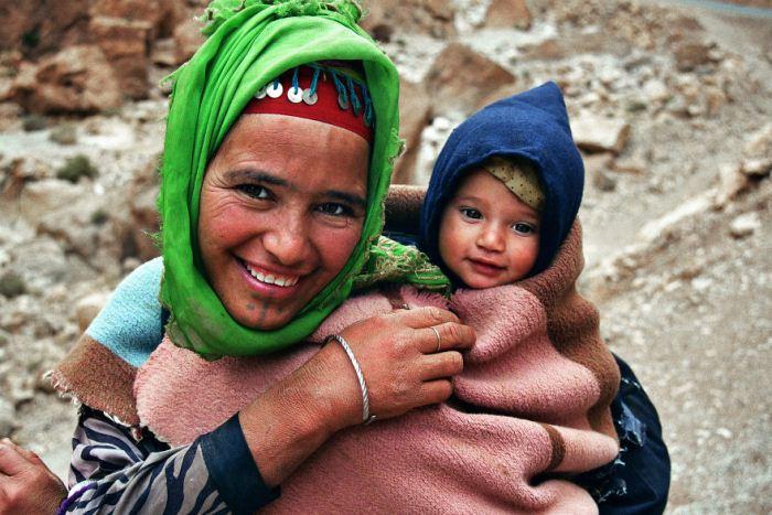 Бесстрашная мама из Марокко.