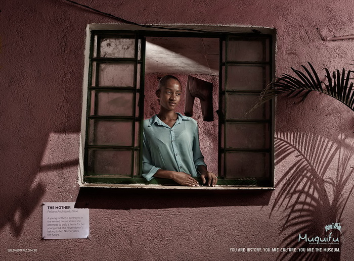 Социальная реклама музея *Muquifu* (Бразилия)