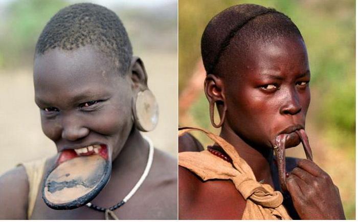 Жестокие традиции африканского племени мурси
