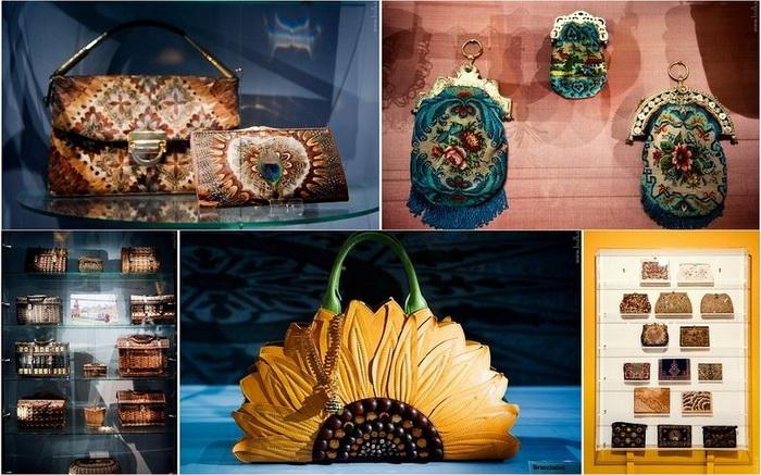 Разнообразие сумок и кошельков в амстердамском музее