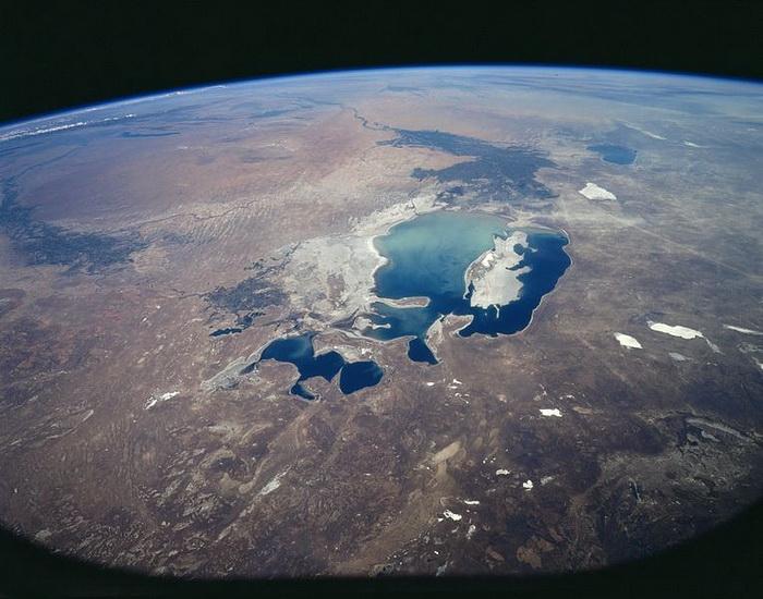 Аральское море, 1997 г. Съемка из космоса