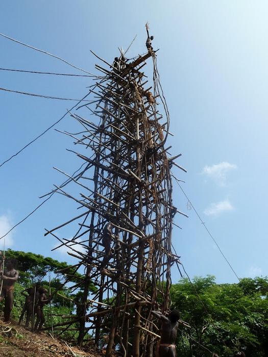 Высота ритуальной башни составляет от 20 до 30 метров