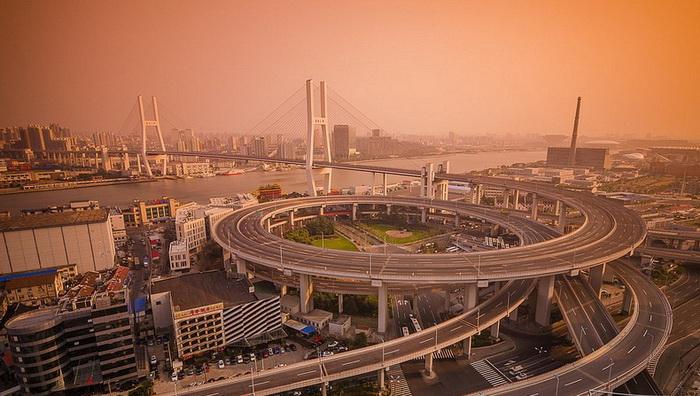 Мост Нанпу в Шанхае
