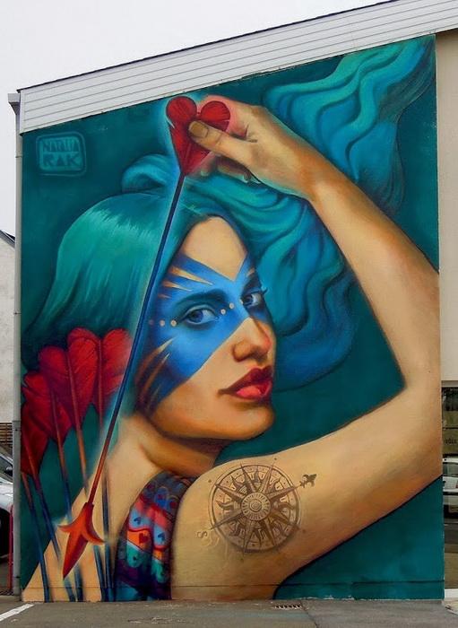 Уличное искусство Натальи Рак (Польша)