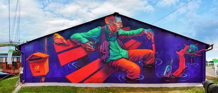 Стрит-арт от Натальи Рак (Польша)