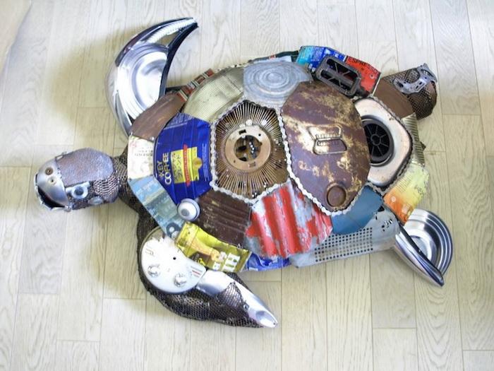 Забавные скульптуры животных от японского художника Natsumi Tomita