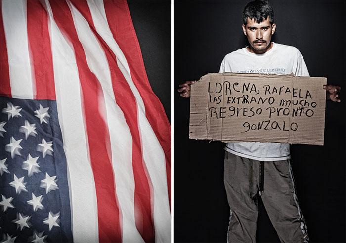 Гонзало исполнилось 22 года во время переезда через Мехико. Его семья надеется, что он доберется до США, он же передает привет жене и 9-месячной дочери