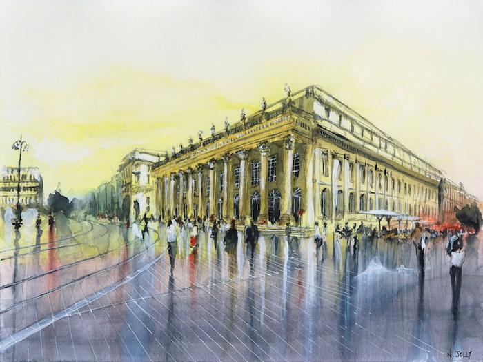 Архитектура Парижа на картинах Николаса Джолли (Nicolas Jolly)