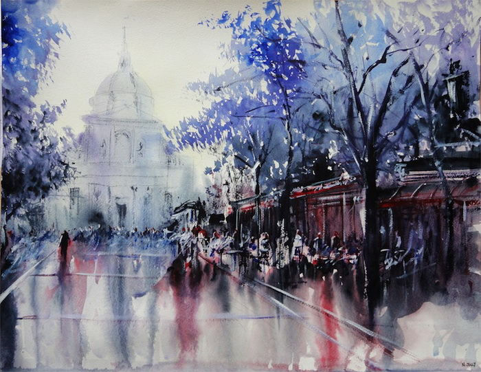 Уличные пейзажи художника Николаса Джолли (Nicolas Jolly)
