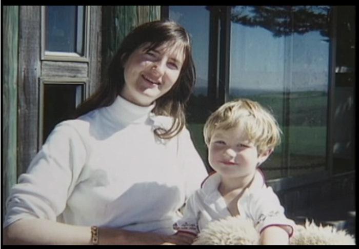 Мэгги Грин со своим сыном.