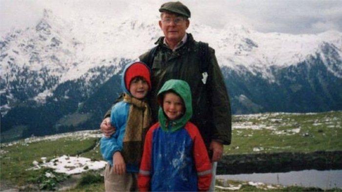 Редж Грин с детьми - Николасом и Элеонор.