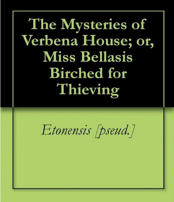 Обложка романа *The Mysteries of Verbena House*, 1881