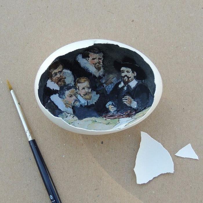 Рисунки на яичной скорлупе от Сурейи Ноян (Sureyya Noyan)