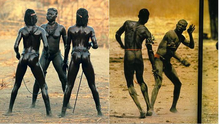 Жители африканского племени нуба