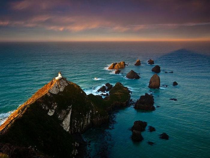 Маяк Наггет Поинт - райский уголок в Новой Зеландии