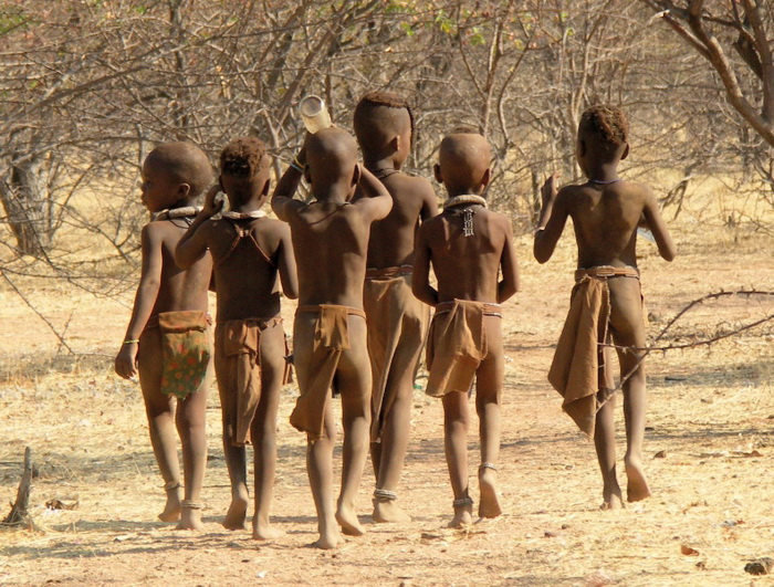 Дети африканского племени окаванго