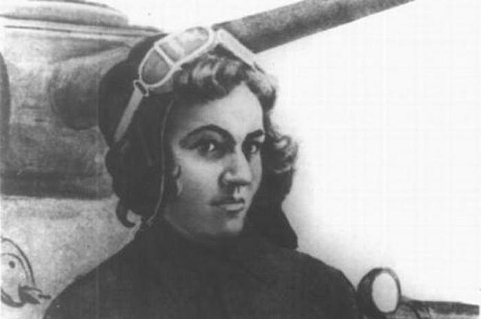 Портрет танкистки Марии Октябрьской