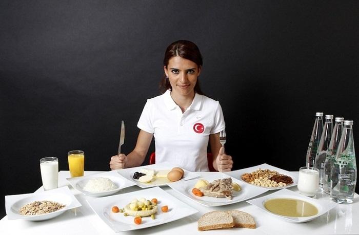 Ежедневный рацион Merve Aydin во время подготовки к Олимпиаде