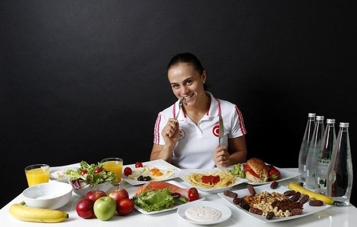 Ежедневный рацион Elif Jale Yesilirmak во время подготовки к Олимпиаде