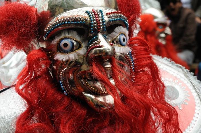 Дьявольские маски на карнавале Оруро