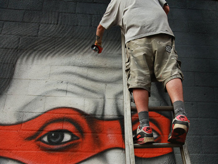 Стрит-арт, вдохновленный образами черепашек-ниндзя