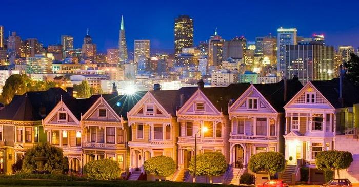 Painted Ladies - одна из известнейших достопримечательностей Сан-Франциско
