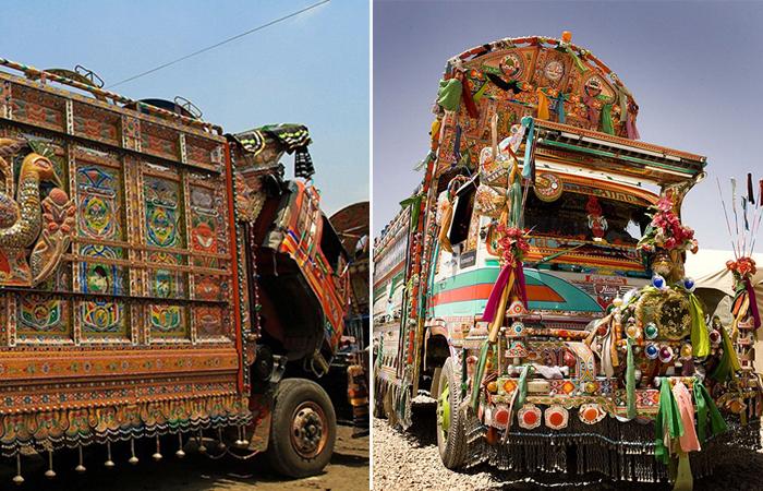 Украшение машин в Пакистане -  традиция, которой придерживаются все водители.
