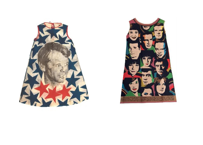 Платья с яркими принтами из бумаги