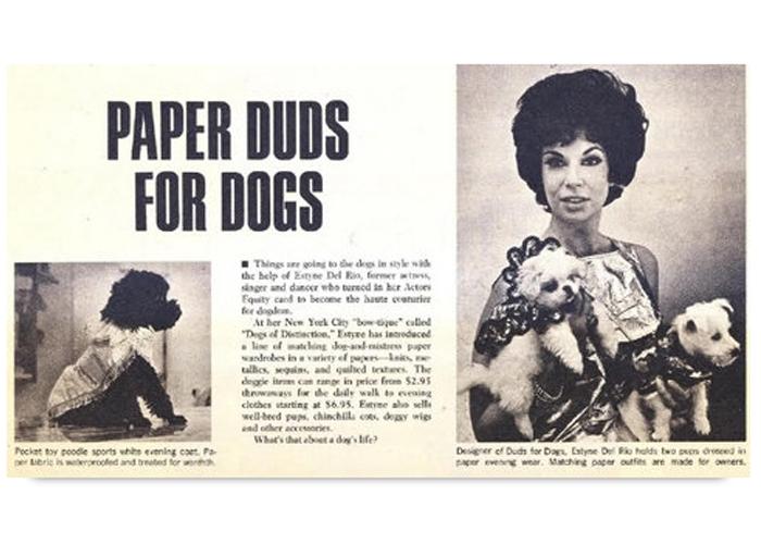 Наряды из бумаги для собак