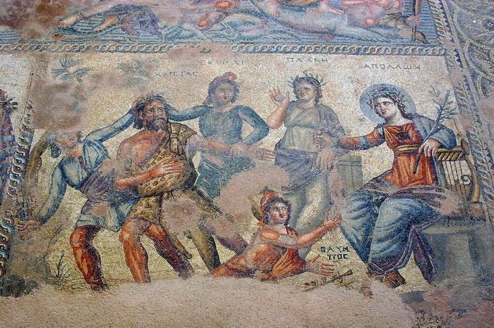 Античные мозаики в городе Пафос