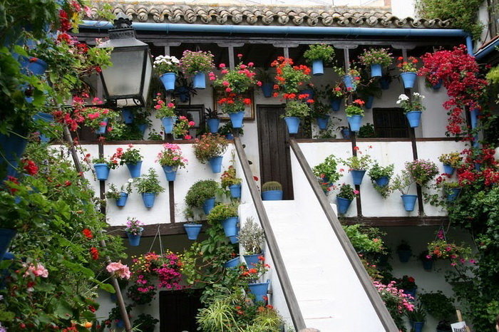 Патио, украшенные цветами