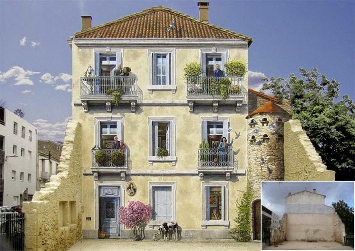 Фасад дома в городе Монпелье