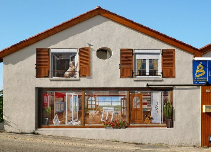 Разрисованные фасады домов от Патрика Коммеси  (Patrick Commecy)