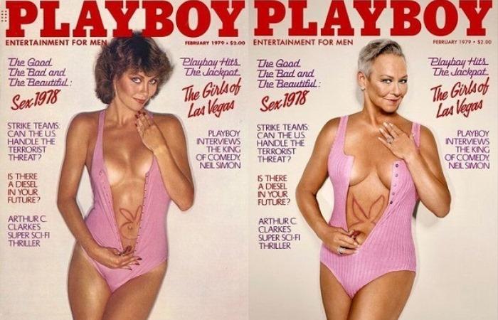 Журнал Playboy воссоздал обложки номеров 1970-90-х с теми же моделями