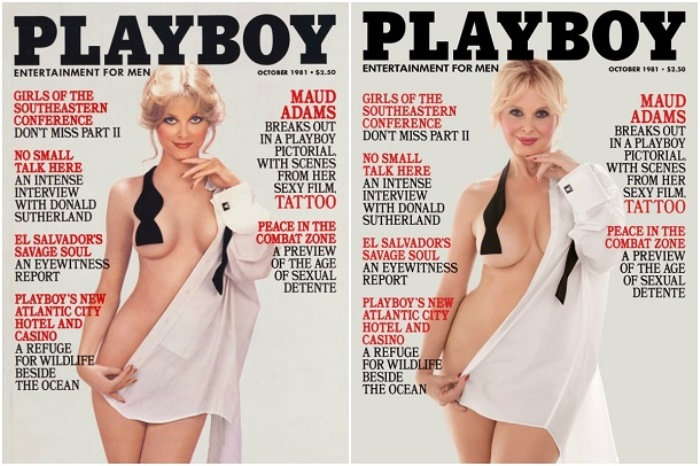 Немолодые модели позируют для обложек Playboy годы спустя. Номер 1981 года.