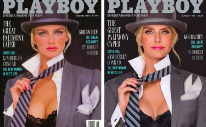 Немолодые модели позируют для обложек Playboy годы спустя. Номер 1988 года.